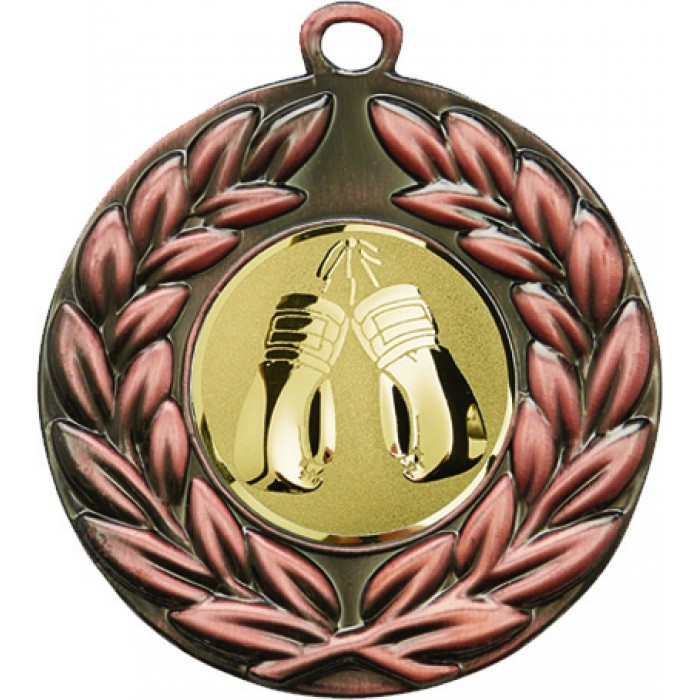 BRONZE 50MM BOXING MEDAL